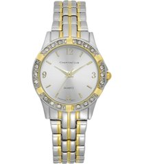 charter club women's two-tone bracelet watch
