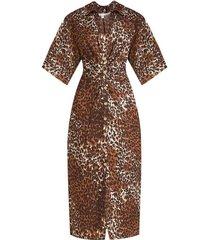 seki linen leopard dress
