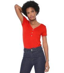 blusa lunender botões vermelha - kanui