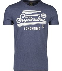 superdry military graphic t-shirt blauw