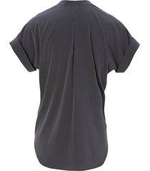 shirtblouse met korte omslagmouwen van peter hahn grijs