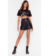womens you're a total catch fishnet tights - black