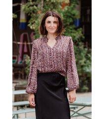 harper & yve blouse paars abbey-ls