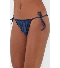 calcinha malwee liberta string drapeado azul-marinho