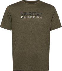 agile graphic tee m t-shirts short-sleeved grön salomon