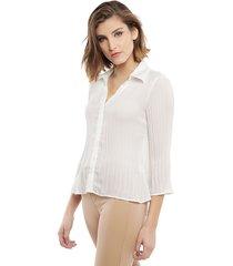 blusa wados ml blanca - calce ajustado