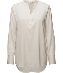 pull-on silk blouse blouse lange mouwen crème filippa k