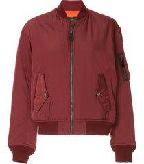 g.v.g.v. lace-up ma1 bomber jacket - red