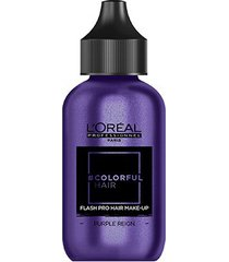 coloração temporária l'oréal professionnel colorful hair flashpro hair make-up cor roxo reign 60ml
