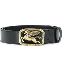 etro pegaso slim belt - black
