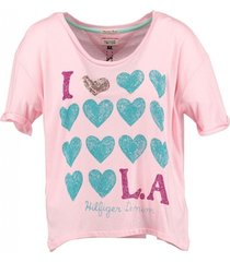 tommy hilfiger roze loose fit t-shirt