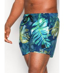 topman blue and green forest swim shorts badkläder blue