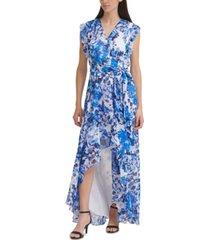 eliza j high-low faux-wrap dress