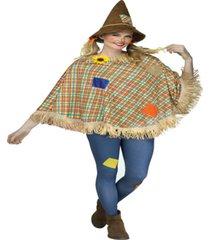 buy seasons women's scarecrow poncho costume