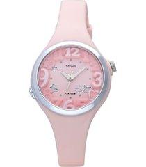 las vegas – orologio rosa in silicone e acciaio per donna