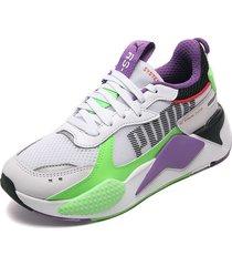 tenis lifestyle blanco-morado-verde puma gecko roysl- lilac