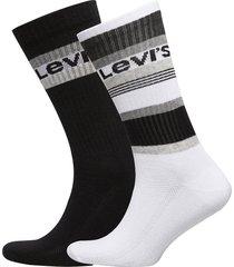 levis regular cut stripe blocks 2p underwear socks regular socks svart levi´s