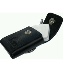 sqouch - premium leather pouch case for square credit card reader with keychain
