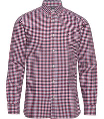 flex multi gingham shirt overhemd casual rood tommy hilfiger