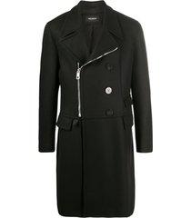 neil barrett casaco mangas longas com zíper - preto