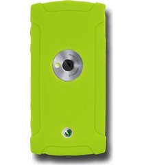 amzer silicone skin jelly case for sony ericsson vivaz u5 - green