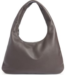 the row medium everyday leather shoulder bag - brown