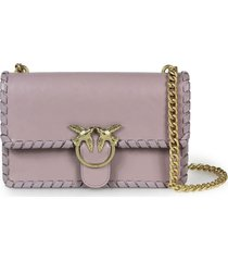 pinko love twist 2 cl lilac crossbody bag