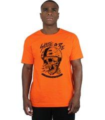 camiseta ventura skate or die laranja - kanui