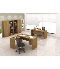 armário alto com 2 portas me 4105 tecno mobili marrom