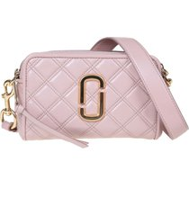 marc jacobs the quilted softshot 21 quilted leather crossbody bag