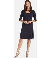 women's karen kane a-line jersey dress, size x-small - blue