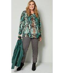 blouse sara lindholm zwart::flessengroen
