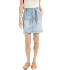 inc tie-waist denim mini skirt, created for macy's