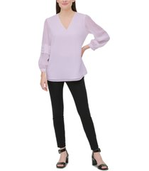 calvin klein pleated-sleeve blouse
