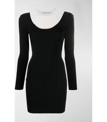 t by alexander wang layered sweater dress