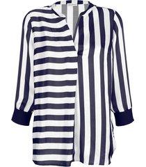 blus alba moda marinblå::offwhite