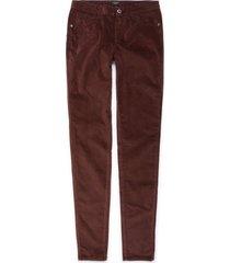 pantalón color siete para mujer - vino tinto
