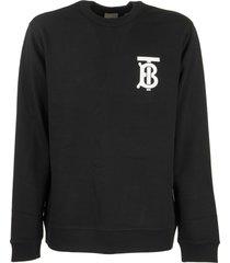 monogram motif cotton sweatshirt dryden tb black