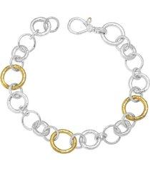 hoopla mix link silver bracelet