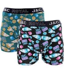 j&c heren boxer 2 pak 30063-l