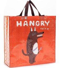 hangry shopper tote (blue q)