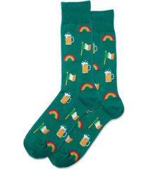 hot sox men's irish celebration crew socks