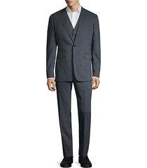 3-piece standard-fit linen & wool-blend suit