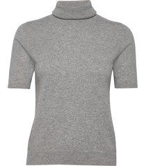 turtleneck t-shirt t-shirts & tops knitted t-shirts/tops grijs davida cashmere