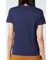 kenzo women's logo multico classic t-shirt - navy - l