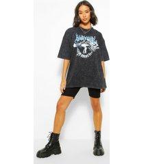 acid wash eagle oversized t-shirt, charcoal