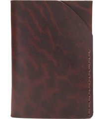 men's ezra arthur no. 2 leather card case - burgundy
