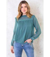 laurent blouse dust mint