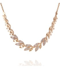 t tahari women's fashionable florals statement necklace