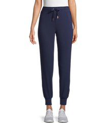 splendid women's foil side-stripe joggers - peacoat - size s